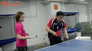 バックハンド横・横上回転ロングサーブ【平屋コーチ基本サーブシリーズ】