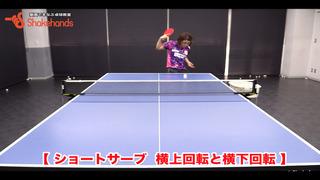 バックハンドサービス①【平岡義博監督講習会】